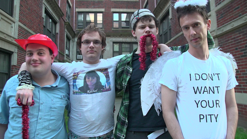 Promotional image for the film Aspergers Are Us featuring four young men