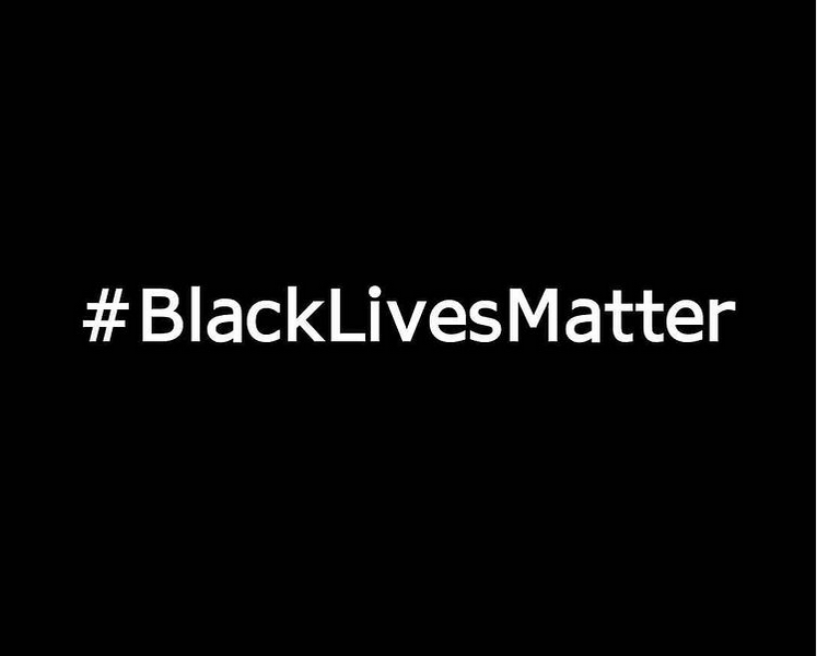 graphic with white text on black background that says black lives matter