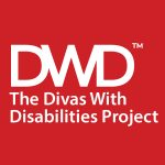 red and white logo for the The Divas With Disabilities Project