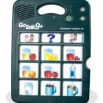 Photo of GoTalk 9+ AAC device.