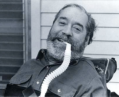Black and white photo of Ed Roberts.