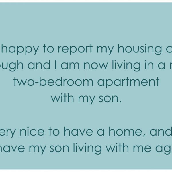 Consumer Testimonial – Housing Journey