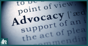 Photo of dictionary definition of advocacy.
